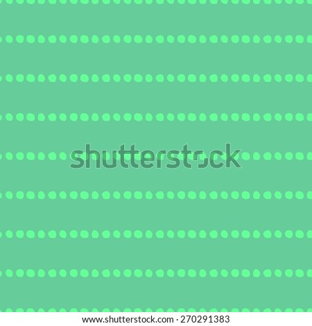 Seamless pattern of hand-drawn circles light green circles on green grass background - stock vector