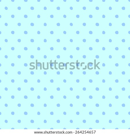 Seamless pattern of hand-drawn circles of blue and pale blue - stock vector