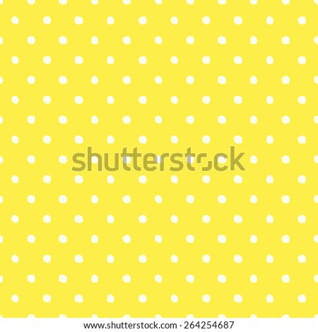 Seamless pattern of hand-drawn circles of yellow and pale yellow - stock vector