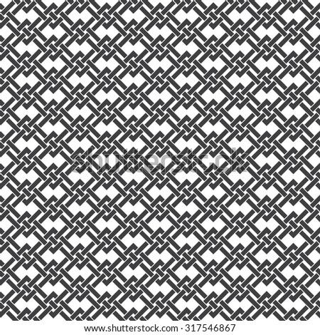 Seamless pattern of intersecting braided strips. Abstract Celtic ornament texture. Fashion geometric background for web or printing design. Swatches are attached. - stock vector