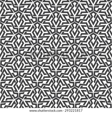 Seamless pattern of intersecting polygons with swatch for filling. Celtic chain mail. Fashion geometric background for web or printing design. - stock vector
