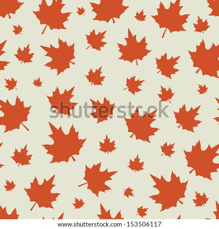 Seamless pattern of leaves. EPS 8, vector. - stock vector