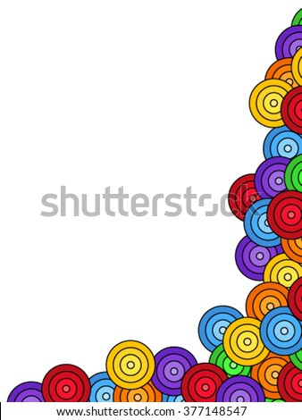 Seamless pattern of overlaid colorful circles - stock vector