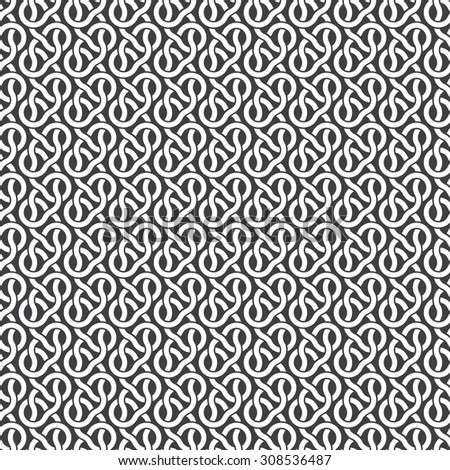 Seamless pattern of parallel braids with swatch for filling. Celtic ornament texture. Fashion geometric background for web or printing design. - stock vector