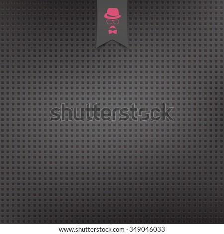seamless pattern of perforated carbon surface. vector industrial background. speaker protection grill texture - stock vector
