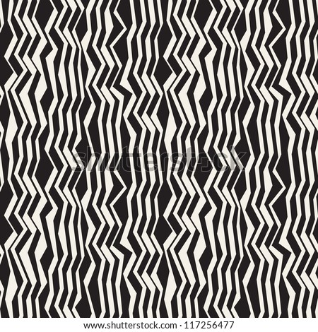 Seamless pattern of stylized zebra. Striped texture - stock vector