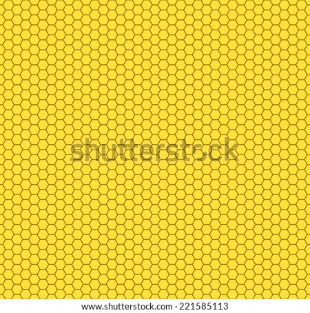 Seamless pattern of the hexagon honeycombs - stock vector