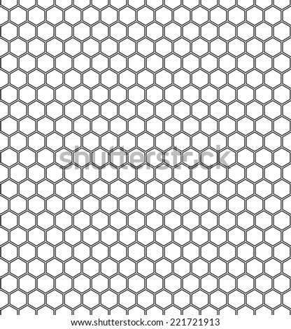 Seamless pattern of the hexagonal elements netting - stock vector