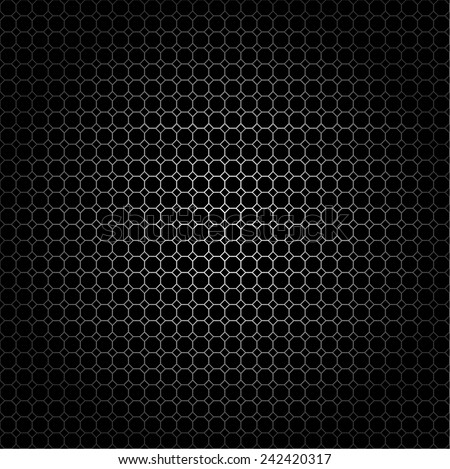 Seamless pattern of the octagon net. Vector art - stock vector
