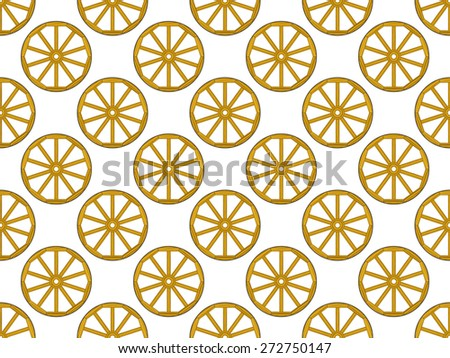 Seamless pattern of the old vintage wooden wheels - stock vector