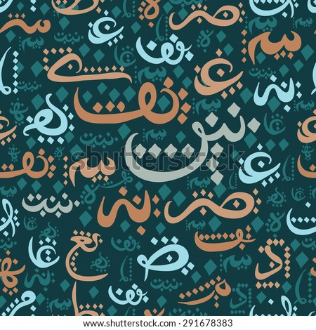 Arabic Alphabet Stock Vectors Vector Clip Art Shutterstock
