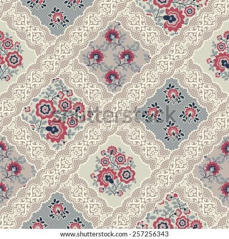 seamless pattern. patchwork. - stock vector
