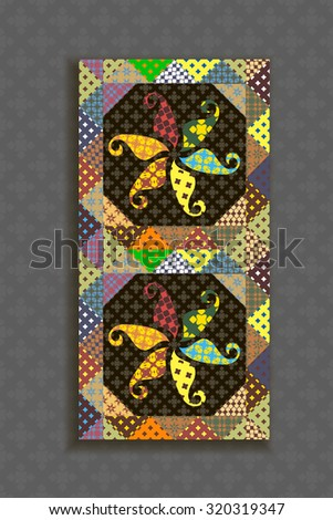 Seamless pattern patchwork ornament for decor. Textile printing. Vector illustration. - stock vector