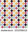 seamless pattern, polka dot fabric, wallpaper - stock vector