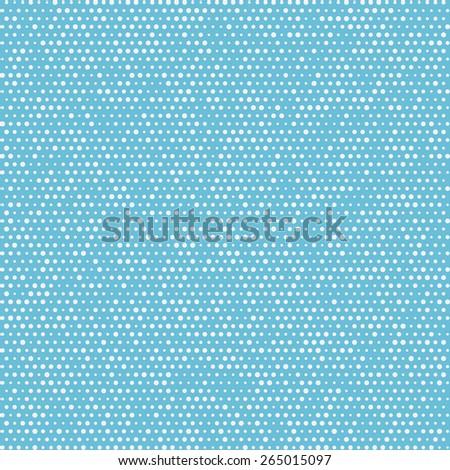Seamless pattern polka dots. Repeating white circles. Art vector - stock vector