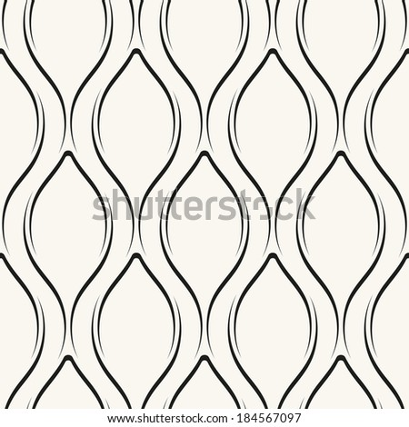 Seamless pattern. Regular abstract grid background with volume effect. Reticulated vector texture - stock vector