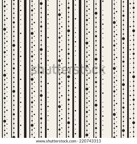 Seamless pattern. Regular striped texture. Stripes from dots and lines - stock vector