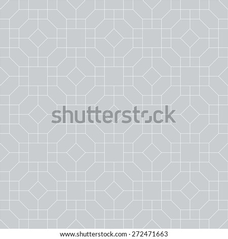 Seamless pattern. Simple geometric texture with a set of thin broken lines. Repeating diamonds, squares, polygons. Monochrome. Backdrop. Web. Vector illustration for your design - stock vector