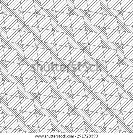 Seamless pattern. Stylish geometric texture in the form of diagonal steps. Repeating lines, cubes, rhombuses, hexagons. Monochrome. Backdrop. Web. Vector element of graphic design for your project - stock vector