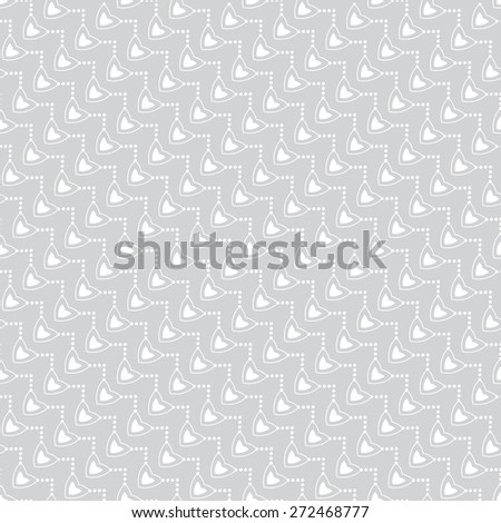 Seamless pattern. Stylish geometric texture with the repeating hearts, ovals, ellipses, dots. Monochrome. Backdrop. Web. Diagonal texture. Vector illustration for your design - stock vector