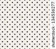 Seamless pattern, stylish polka dot texture. Stars and circles - stock vector