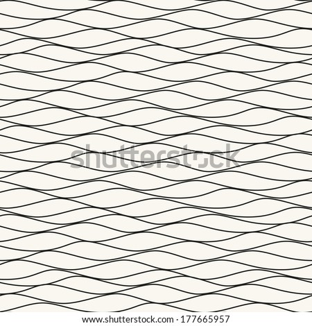 Seamless pattern. Texture of pastel wavy stripes. Stylized water ripple - stock vector