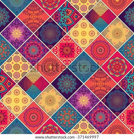 Seamless pattern. Vintage decorative elements. Oriental pattern, vector illustration.  Islam, Arabic, Indian, Turkish, Pakistan, Chinese, Moroccan, Ottoman motifs - stock vector