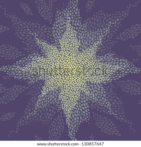 Seamless pattern with a shining star - stock vector
