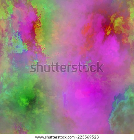 Seamless pattern with abstract stars and glowing elements. Pattern is with high contrast, bright and multicolored. - stock vector