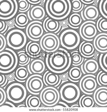 Seamless pattern with abstract symbols - stock vector