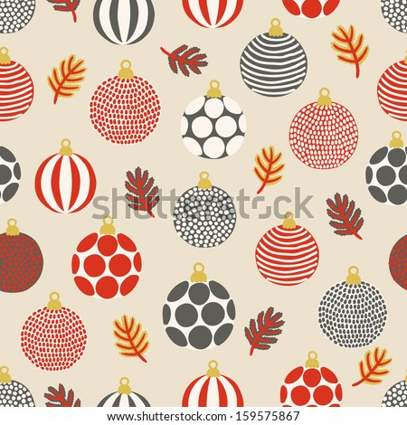 Seamless pattern with balls - stock vector