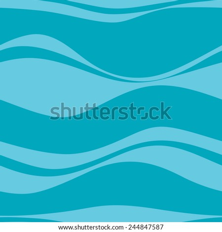 Seamless pattern with blue waves, vector - stock vector