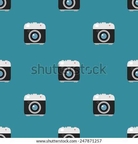 seamless pattern with camera. vector illustration - stock vector