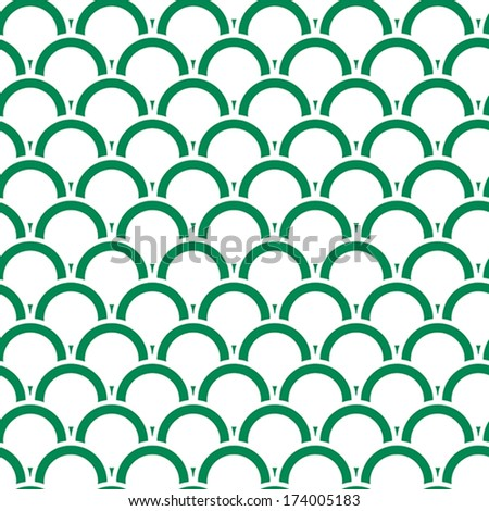 Seamless pattern with circles that overlap each other. - stock vector