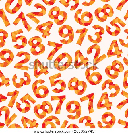 Seamless pattern with different abstract numbers - stock vector