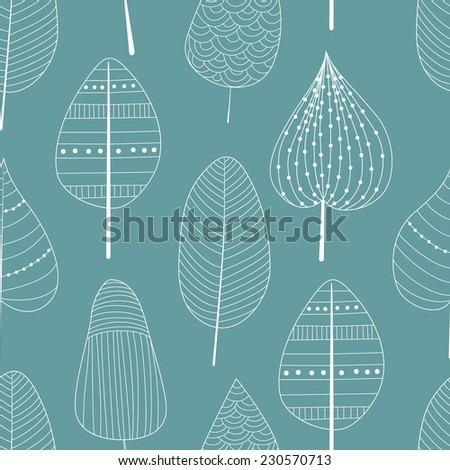 Seamless pattern with doodle elements - stock vector