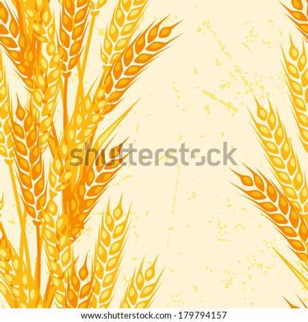Seamless pattern with ears of wheat. - stock vector
