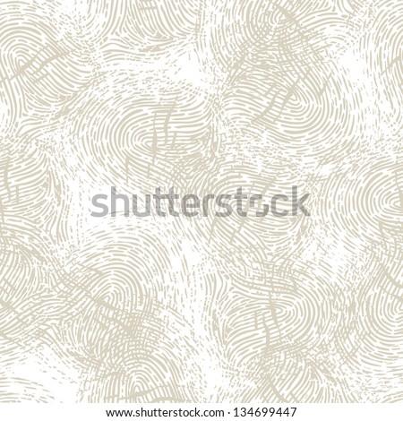 Seamless pattern with fingerprints. - stock vector