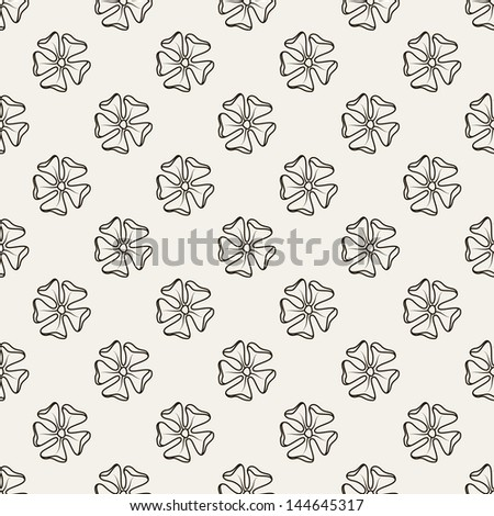Seamless pattern with flowers. Polka dot print. Stylish vector texture - stock vector
