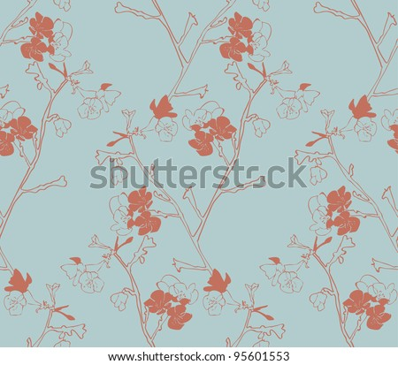Seamless pattern with flowers Vector illustration seamless - stock vector