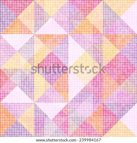 Seamless pattern with geometric design - stock vector