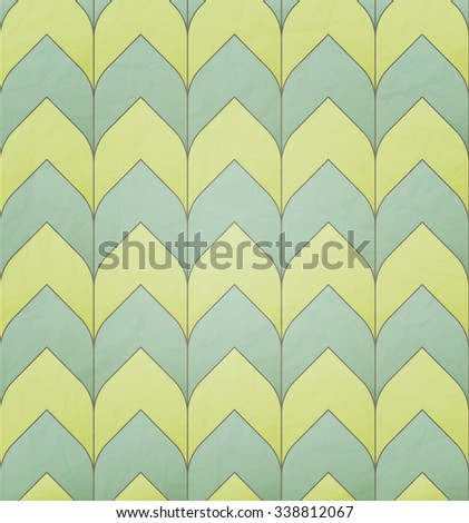 seamless pattern with geometric simple ornament over paper texture. vector retro wallpaper design - stock vector
