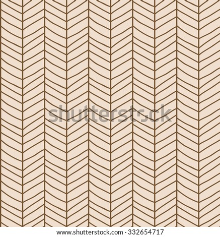 Seamless pattern with hand drawn chevron line grid, vector illustration - stock vector