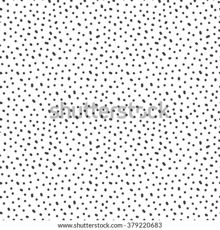 Seamless pattern with hand drawn dots. Abstract monochrome background. Vector black and white texture from random circles - stock vector