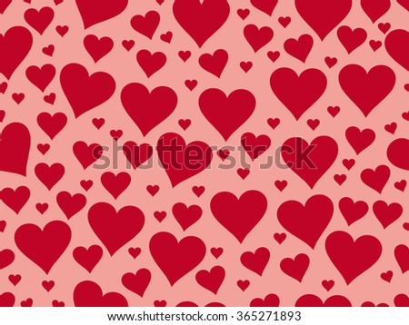 Seamless pattern with hearts. Valentine's Day. Textile illustration. - stock vector