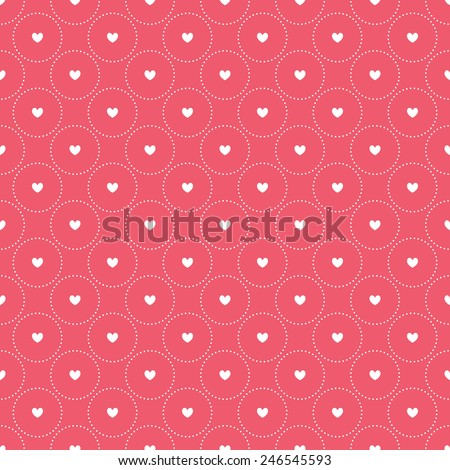 Seamless pattern with hearts. Vector repeating texture. Geometric polka dot. Simple stylish print for St. Valentine's Day - stock vector