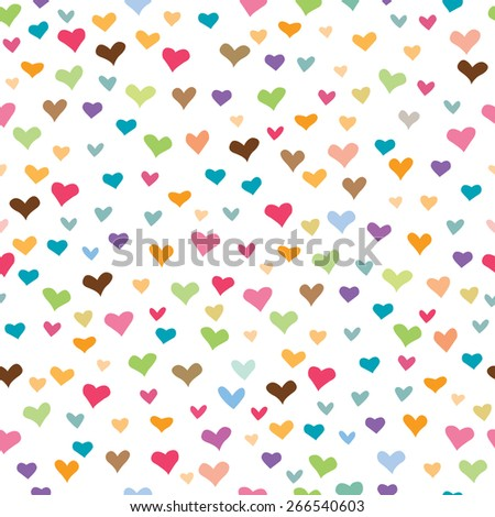 Seamless pattern with love / Abstract Heart-shaped background  - stock vector