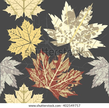 Seamless pattern with Maple Leaf. Autumn background can be used for linen, tile, wallpaper, design fabric and more designs. - stock vector