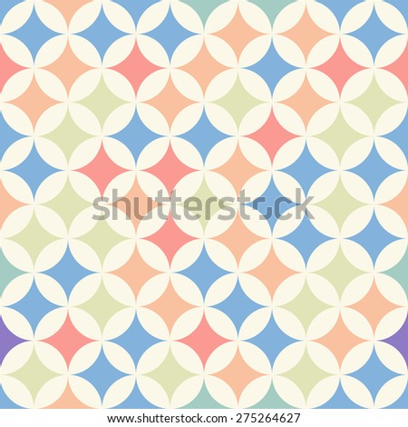 Seamless pattern with multicolor rhombus. Vector illustration - stock vector