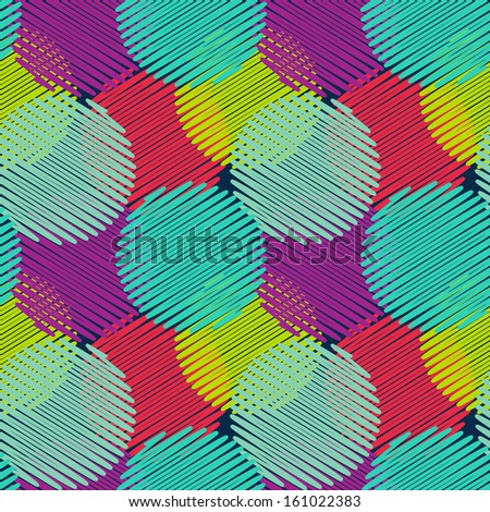 Seamless pattern with multicolored circles - stock vector